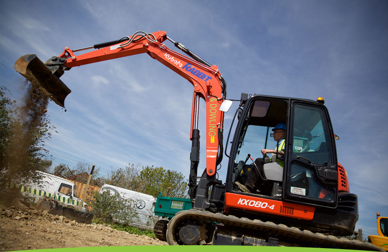 Plant hire equipment in action