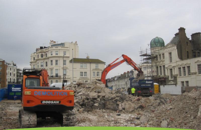 Sussex demolition site by Rabbit Demolition